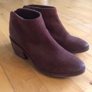 Ox Blood Leather Booties
